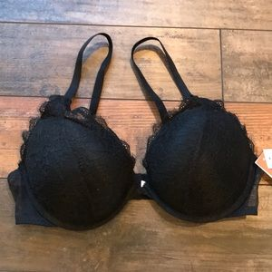 Gilligan & Omalley 38C black push up lace bra